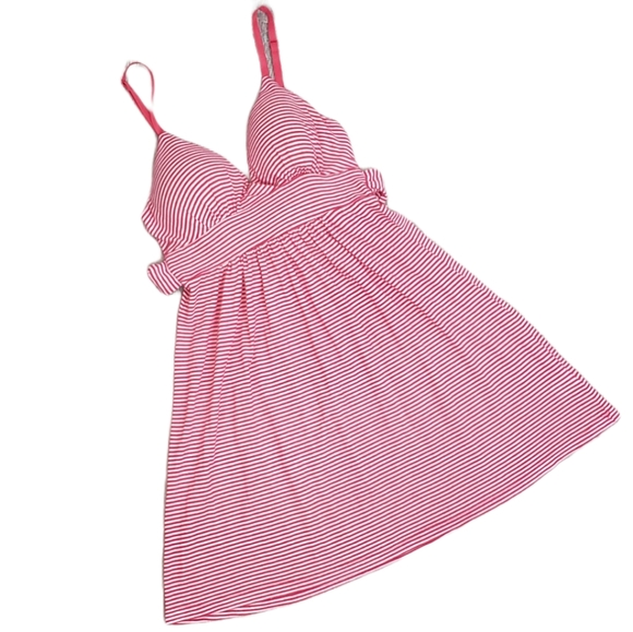 XS Forever 21 Pink & White Striped Dress